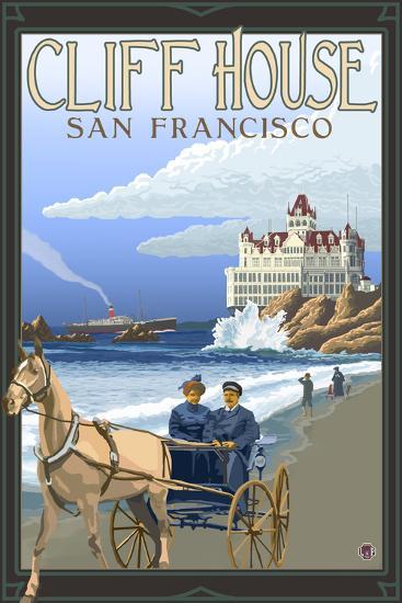 Cliff House, San Francisco, California-Lantern Press-Wall Mural