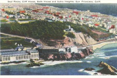 Cliff House, Seal Rocks--Art Print