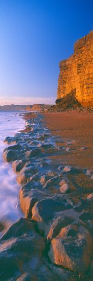 Cliff on the Beach, Burton Bradstock, Dorset, England--Photographic Print