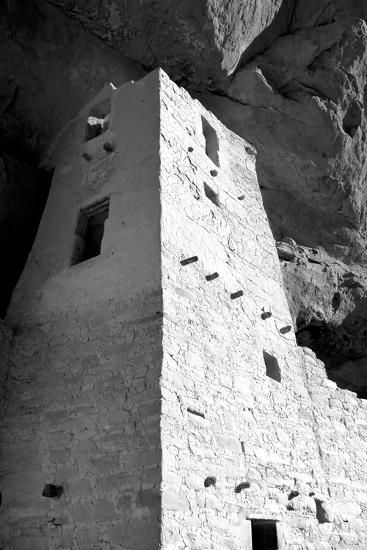 Cliff Palace Detail I BW-Douglas Taylor-Photographic Print