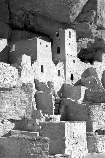 Cliff Palace Detail IV BW-Douglas Taylor-Photographic Print