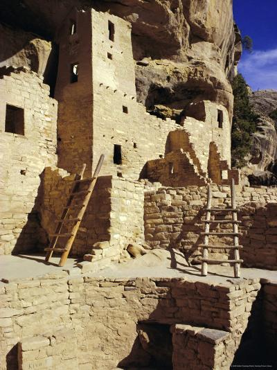 Cliff Palace, Mesa Verde, Anasazi Culture, Colorado, USA-Walter Rawlings-Photographic Print