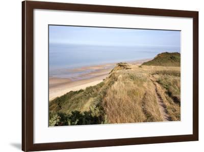 Cliff Path from Cromer to Overstran, Norfolk, England, United Kingdom, Europe-Mark Sunderland-Framed Photographic Print