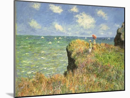 Cliff Walk at Pourville, 1882-Claude Monet-Mounted Giclee Print