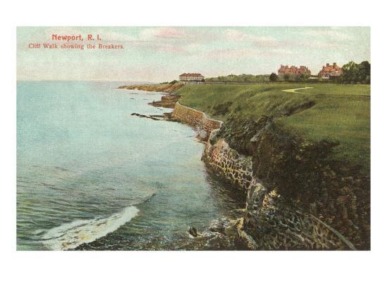 Cliff Walk, Breakers, Newport, Rhode Island--Art Print