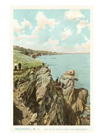 Cliff Walk, Newport, Rhode Island--Art Print