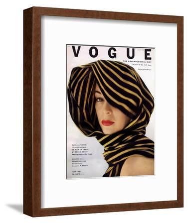 Vogue Cover - July 1951 - Wrapped in Black and Gold
