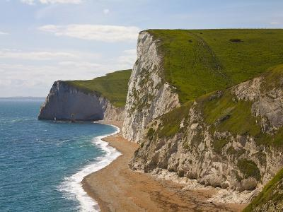 Cliffs above Lulworth Cove on Dorset's Jurassic Coast-Paul Thompson-Photographic Print