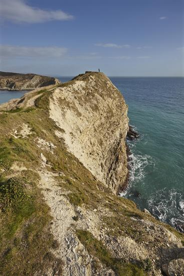 Cliffs at Lulworth Cove, in the Jurassic Coast World Heritage Site, Dorset, Great Britain-Nigel Hicks-Photographic Print