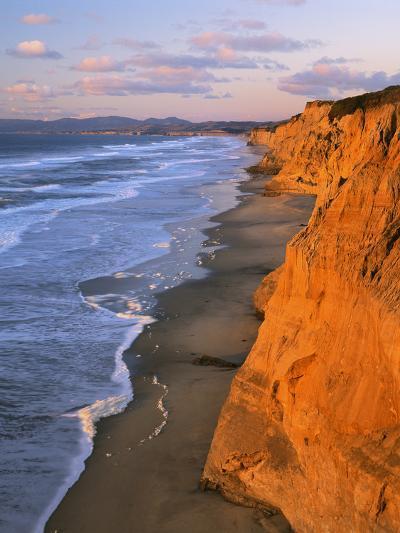 Cliffs at Pescadero State Beach, California, USA-Charles Gurche-Photographic Print