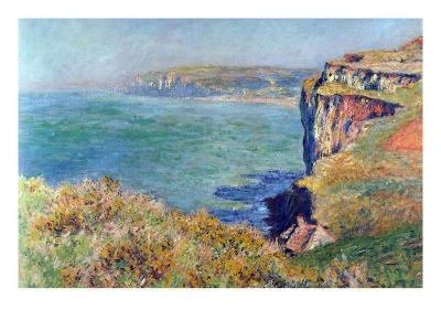 Cliffs At Varengeville-Claude Monet-Art Print