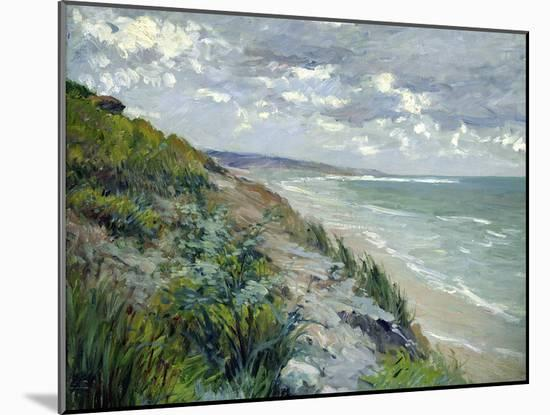 Cliffs by the Sea at Trouville-Gustave Caillebotte-Mounted Giclee Print
