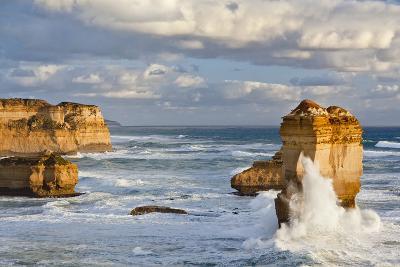 Cliffs, Loch Ard Gorge, View Towards the 12 Apostles, Great Ocean Road, Australia-Martin Zwick-Photographic Print