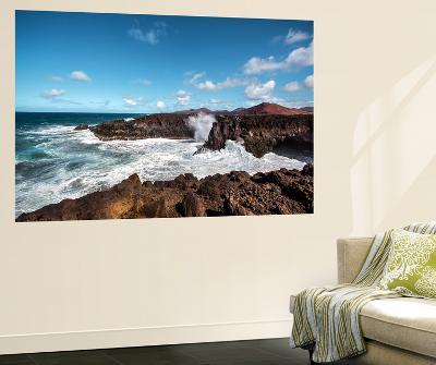 Cliffs, Los Hervideros, Lanzarote, Canary Islands, Spain-Sabine Lubenow-Wall Mural