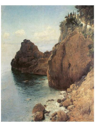 Cliffs near Final-Marina-Eugen Bracht-Art Print