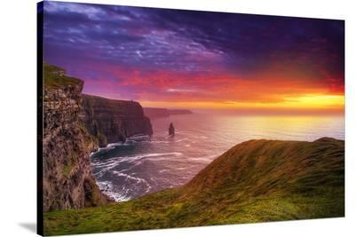 Cliffs of Moher Clare Ireland--Stretched Canvas Print