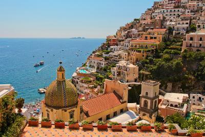 Cliffs of the Almafi Coast Italy--Photo