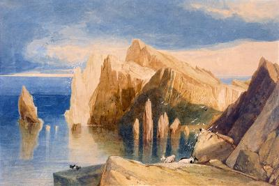 Cliffs on the North East Side of Point Lorenzo, Madeira-John Sell Cotman-Giclee Print