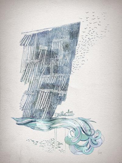 Cliffs-David Fleck-Art Print