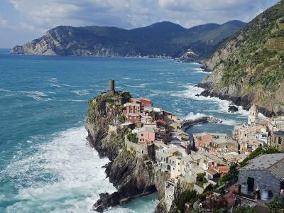 Clifftop Village of Vernazza, Cinque Terre, UNESCO World Heritage Site, Liguria, Italy, Europe-Christian Kober-Photographic Print