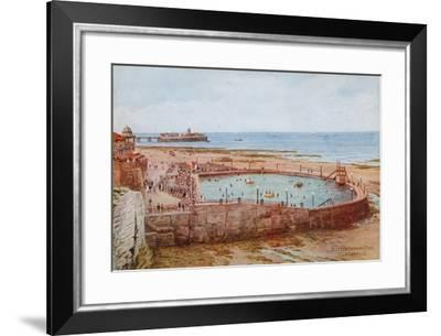 Clifton Bathing Pool, Cliftonville-Alfred Robert Quinton-Framed Giclee Print