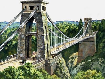 Clifton Suspension Bridge--Giclee Print