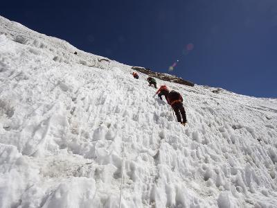 Climbers on An Ice Wall, Island Peak 6189M, Sagarmatha National Park, Himalayas-Christian Kober-Photographic Print