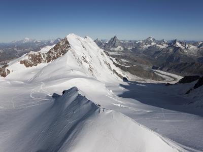 Climbers on Peak Polluce in the Monte Rosa Massif, Piedmont, Italian Alps, Italy, Europe-Angelo Cavalli-Photographic Print