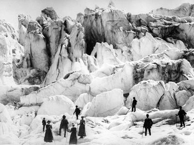 Climbers on the Morteratsch Glacier, Late C19th