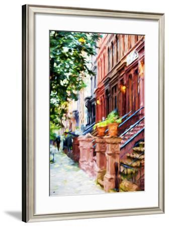 Climbs Stairs - In the Style of Oil Painting-Philippe Hugonnard-Framed Giclee Print