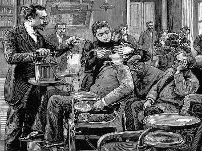 Clinic at the School of Dentistry, Paris, 1892--Giclee Print