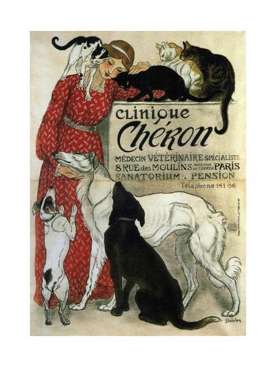 Clinique Chéron, 1905-Th?ophile Alexandre Steinlen-Giclee Print