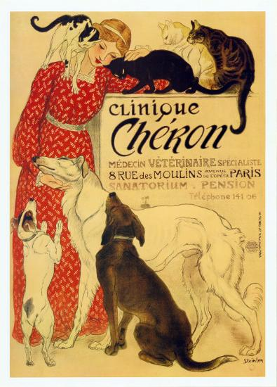 Clinique Cheron, c.1905-Th?ophile Alexandre Steinlen-Art Print