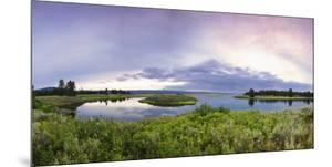 A Panorama of the Millionaire's Pool on the Henry's Fork River in Idaho by Clint Losee
