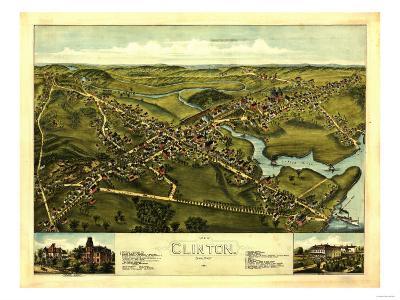 Clinton, Connecticut - Panoramic Map-Lantern Press-Art Print