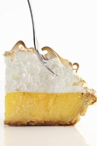 Lemon Meringue Pie with a Fork by Clinton Hussey