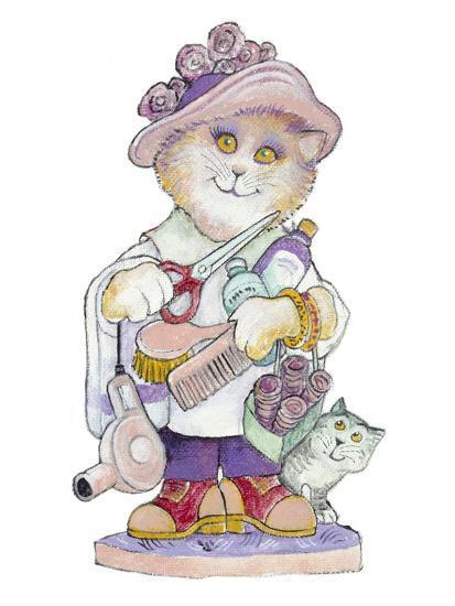 Clipper Cat-Bill Bell-Giclee Print
