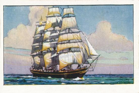 'Clipper Ship Cutty Sark, 1937-Unknown-Giclee Print