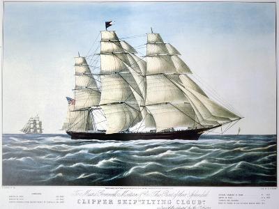 Clipper Ship Flying Cloud, 1851-1907-E Brown Jr-Giclee Print