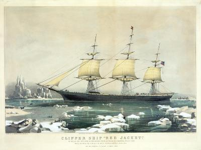 Clipper Ship 'Red Jacket' in the Ice Off Cape Horn--Giclee Print