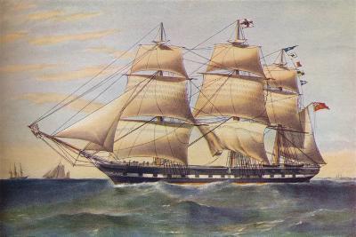 Clipper Ship, Sussex, c1853-Thomas Goldsworth Dutton-Giclee Print