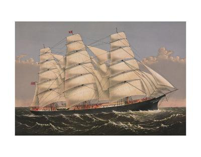 Clipper Ship ?Three Brothers?, ca. 1875-Currier & Ives-Art Print