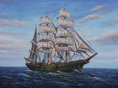 Clipper Ship-Bruce Dumas-Giclee Print