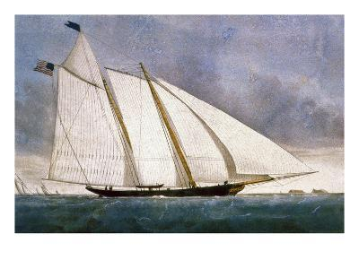 Clipper Yacht 'America'-Currier & Ives-Giclee Print