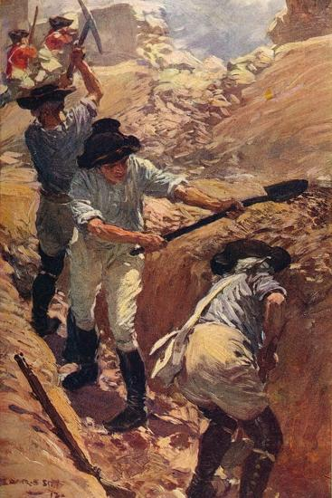 'Clive in the Trenches at Arcot', 1751 (c1912)-Unknown-Giclee Print