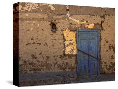 Blue Door, Luxor Town, Egypt
