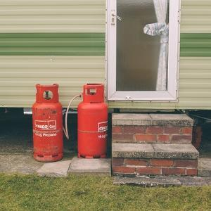 Gas Bottles by Caravan by Clive Nolan
