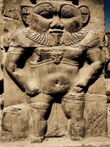 Statue of the Egyptian God Bes by Clive Nolan