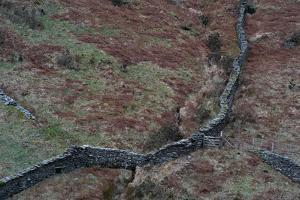 Wall in Remote Location in England by Clive Nolan