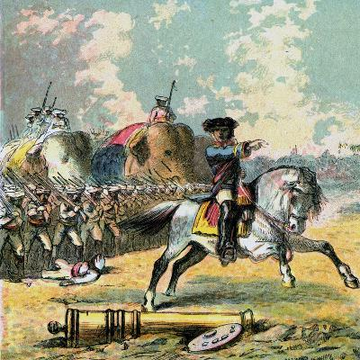 Clive's Victories in India, C1850s--Giclee Print
